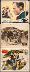 """Movie Posters:Western, Tiger Thompson & Others Lot (W.W. Hodkinson Corporation, 1924). Lobby Cards (3) (11"""" X 14""""). Western.. ... (Total: 3 Items)"""