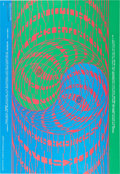 Music Memorabilia:Posters, Quicksilver Messenger Service/Big Brother And The Holding Company Avalon Ballroom Concert Poster FD-68 Signed By Artist Victor...