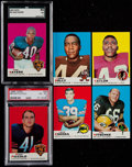 Football Cards:Lots, 1969 & 1970 Topps Football Collection (25) - With Stars & HoFers. ...
