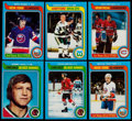 Hockey Cards:Sets, 1979 Topps Hockey Near Set (263/264) With Wrapper & Sticker Set....