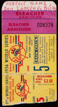 Baseball Collectibles:Tickets, 1956 Don Larsen's Perfect Game New York Yankees vs. BrooklynDodgers World Series Game 5 Ticket Stub....