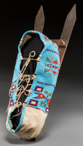 American Indian Art:Beadwork and Quillwork, A Contemporary Sioux Beaded Hide Baby Carrier...