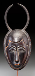 Tribal Art, Yaure People, Ivory Coast: Fine, Old Mask...