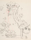 Animation Art:Production Drawing, Water Babies Animation Drawing (Walt Disney, 1935). ...