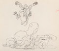 Animation Art:Production Drawing, Elmer Elephant Monkey and Ostrich Animation Drawing (WaltDisney, 1936...