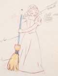 Animation Art:Color Model, Snow White and the Seven Dwarfs Color Model Drawing (Walt Disney, 1937).. ...