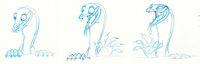 The Rescuers Down Under Joanna the Goanna Rough Animation Drawing Group of 3 (Walt Disney, 1990).... (Total: 3 Items)