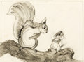 Animation Art:Concept Art, Bambi Mother and Baby Squirrel Concept/Layout Drawing Groupof 10 (Walt Disney, 1942).... (Total: 10 Original Art)