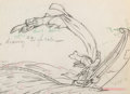 Animation Art:Production Drawing, Moose Hunters Donald Duck and Goofy Animation Drawing (WaltDisney, 1937). ...