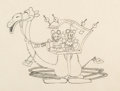 Animation Art:Production Drawing, Mickey in Arabia Mickey Mouse and Minnie Mouse Animation Drawing (Walt Disney, 1932)....