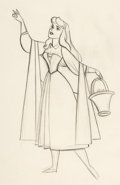 Animation Art:Production Drawing, Sleeping Beauty Briar Rose Animation Drawing (Walt Disney, 1959)....