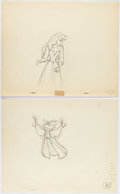 Animation Art:Production Drawing, Sleeping Beauty Briar Rose and Mock Prince Animation DrawingGroup of 2 (Walt Disney, 1959).. ... (Total: 2 )