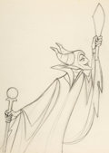 Animation Art:Production Drawing, Sleeping Beauty Maleficent Animation Drawing (Walt Disney,1959). ...