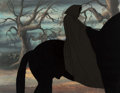 Animation Art:Production Cel, Lord of the Rings Dark Rider Production Cel (Ralph Bakshi,1978)....