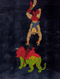 Animation Art:Production Cel, He-Man Battle Cat Production Cel and Animation Drawing Group of 5(Filmation, 1983). ... (Total: 5 Original Art)