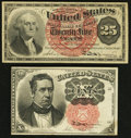 Fractional Currency:Fifth Issue, Fr. 1265 10¢ Fifth Issue Extremely Fine;. Fr. 1302 25¢ Fourth IssueExtremely Fine.. ... (Total: 2 notes)