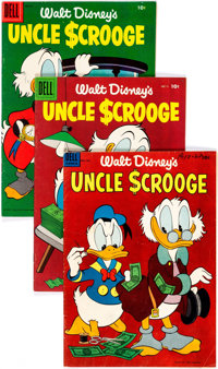 Uncle Scrooge Group of 4 (Dell, 1956-58) Condition: Average VG.... (Total: 4 Comic Books)