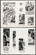 """Movie Posters:Exploitation, Youth Runs Wild & Others Lot (RKO, 1944). Uncut Pressbooks (6)(Multiple Pages, 11"""" X 17"""", 12"""" X 17"""", 14"""" X 17""""). Exploitati...(Total: 6 Items)"""
