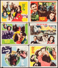 "Movie Posters:Academy Award Winners, Gone with the Wind (MGM, R-1954). Lobby Cards (6) (11"" X 14"").Academy Award Winners.. ... (Total: 6 Items)"