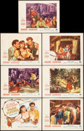 """Movie Posters:Romance, Golden Earrings & Other Lot (Paramount, 1947). Title Lobby Card, Lobby Cards (6) (11"""" X 14""""), & One Sheet (27"""" X 41""""). Roman... (Total: 8 Items)"""