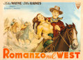 "Movie Posters:Western, Tall in the Saddle (RKO, Late 1940s). First Post-War HorizontalItalian 2 - Fogli (39"" X 55"") Carlantonio Longi Artwork.. ..."
