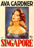 "Movie Posters:Adventure, Singapore (Universal International, 1948). Italian 2 - Fogli (39"" X54.5"") Bellomia Artwork.. ..."