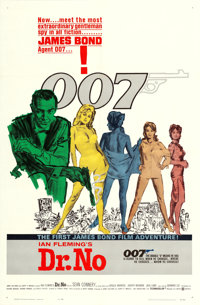 "Dr. No (United Artists, 1962). One Sheet (27"" X 41"") White Smoke Style, Mitchell Hooks Artwork"