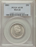 Coins of Hawaii , 1883 25C Hawaii Quarter AU55 PCGS. PCGS Population: (135/1456). NGCCensus: (77/1077). Mintage 242,600....