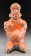Pre-Columbian:Ceramics, A Nayarit Seated Female Figure...