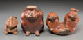 Pre-Columbian:Ceramics, Three West Mexico Frog Vessels... (Total: 3 Items)