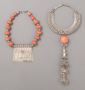 Tribal Art, Two Eastern Necklaces... (Total: 2 Items)