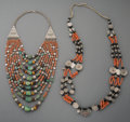 Tribal Art, An Afghan or Turkmen Beaded Necklace...