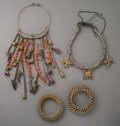 Tribal Art, A Four-Piece Ethnographic Jewelry Group... (Total: 4 Items)