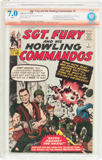 Sgt. Fury and His Howling Commandos #1 Verified Signature (Marvel, 1963) CBCS FN/VF 7.0 White pages