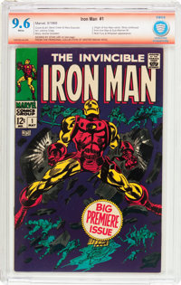 Iron Man #1 Verified Signature (Marvel, 1968) CBCS NM+ 9.6 White pages