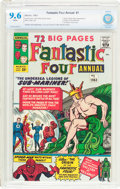 Silver Age (1956-1969):Superhero, Fantastic Four Annual #1 (Marvel, 1963) CBCS NM+ 9.6 White pages....