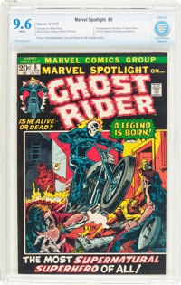 Marvel Spotlight #5 Ghost Rider (Marvel, 1972) CBCS NM+ 9.6 White pages
