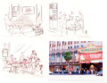 Animation Art:Production Drawing, El Capitan Theater Disney Soda Fountain and Studio Store ConceptDrawings Group of 10 (Walt Disney, 2004). ... (Total: 10 Items)