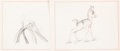 Animation Art:Concept Art, Bambi Young Prince Concept/Story Drawings Group of 5 (WaltDisney, 1942).... (Total: 5 Original Art)