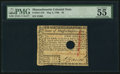 Colonial Notes:Massachusetts, Massachusetts May 5, 1780 $2 PMG About Uncirculated 55.. ...