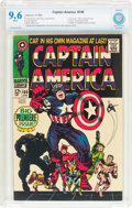 Silver Age (1956-1969):Superhero, Captain America #100 (Marvel, 1968) CBCS NM+ 9.6 White pages....
