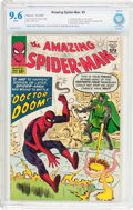 Silver Age (1956-1969):Superhero, The Amazing Spider-Man #5 (Marvel, 1963) CBCS NM+ 9.6 Whitepages....