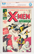 Silver Age (1956-1969):Superhero, X-Men #1 Verified Signature (Marvel, 1963) CBCS VF 8.0 Off-white towhite pages....