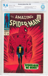 The Amazing Spider-Man #50 (Marvel, 1967) CBCS NM+ 9.6 White pages
