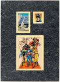 "Original Comic Art:Miscellaneous, Steve Epting and Paul Mounts 1992 Impel Marvel Universe IIITrading Card #171 ""The Avengers"" Original Color Art (I..."