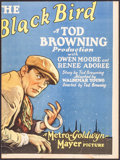 "Movie Posters:Crime, The Black Bird (MGM, 1926). Trimmed Window Card (12"" X 16"").Crime.. ..."