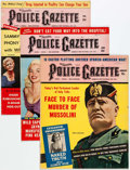 Magazines:Miscellaneous, The National Police Gazette Group of 6 (Richard K. Fox, 1959-61) Condition: Average VG.... (Total: 6 Items)