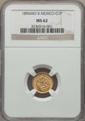 Mexico, Mexico: Republic gold Peso 1896 Mo-B MS62 NGC,...