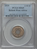 British West Africa, British West Africa: British Colony. George VI 1/10 Penny 1939 MS65PCGS,...