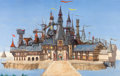 "Animation Art:Concept Art, Babes in Toyland ""Castle"" Concept Painting (Walt Disney, 1961)...."